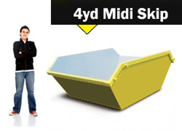 4yd Midi Skip Hire Stoke on Trent and Newcastle under Lyme